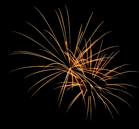 back and forth: beautiful fireworks against the dark sky, fireworks Stock Photo