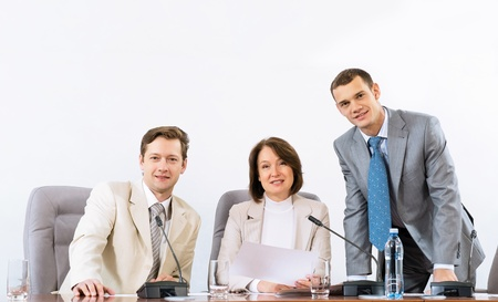 group of businessmen at the table for conferences, team work in business Stock Photo - 17079174