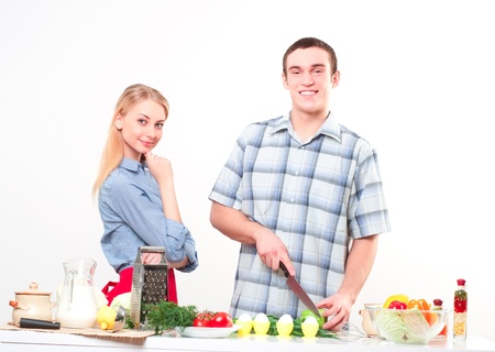 couple of cooking together, have fun time Stock Photo - 17231712