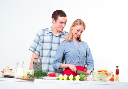 couple of cooking together, have fun time Stock Photo - 17288621