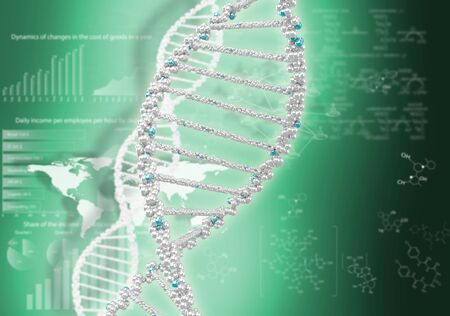 DNA helix against the colored background, scientific conceptual background Stock Photo - 17514541