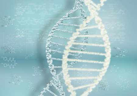 DNA helix against the colored background, scientific conceptual background Stock Photo - 17514533