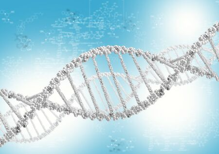 DNA helix against the colored background, scientific conceptual background Stock Photo - 17626840