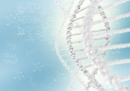 DNA helix against the colored background, scientific conceptual background Stock Photo - 17626837