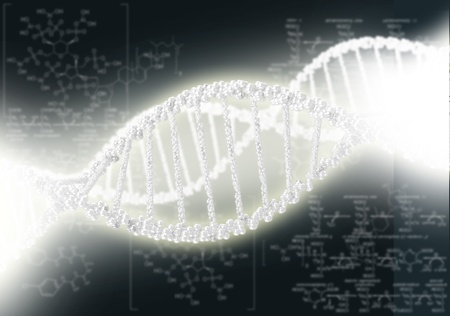 DNA helix against the colored background, scientific conceptual background Stock Photo - 17626990