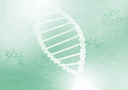 DNA helix against the colored background, scientific conceptual background Stock Photo - 17726788