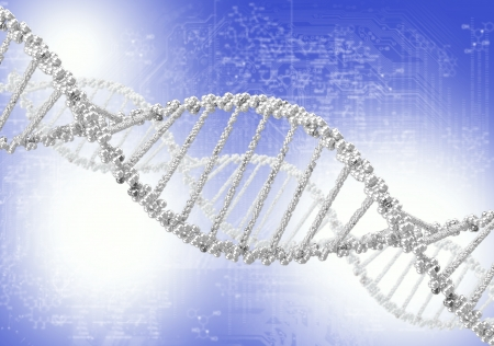 DNA helix against the colored background, scientific conceptual background Stock Photo - 17726790