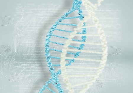DNA helix against the colored background, scientific conceptual background Stock Photo - 17726789