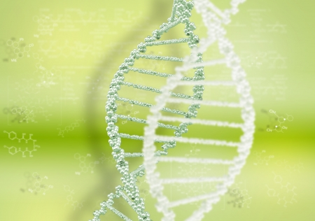 DNA helix against the colored background, scientific conceptual background Stock Photo - 17726807