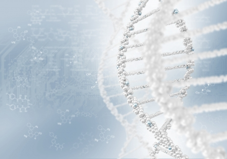 DNA helix against the colored background, scientific conceptual background Stock Photo - 17726809