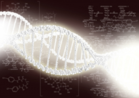 DNA helix against the colored background, scientific conceptual background Stock Photo - 18029249