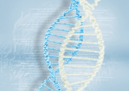 DNA helix against the colored background, scientific conceptual background Stock Photo - 18067146