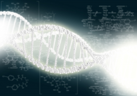 DNA helix against the colored background, scientific conceptual background Stock Photo - 18151076