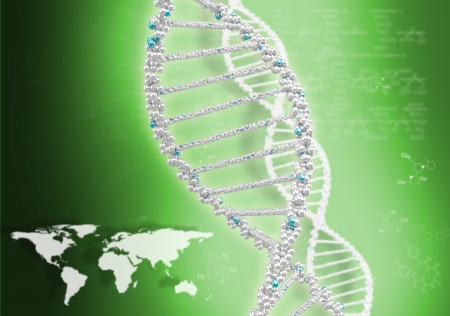 DNA helix against the colored background, scientific conceptual background Stock Photo - 18151077