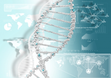 DNA helix against the colored background, scientific conceptual background Stock Photo - 18151081