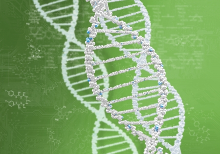 DNA helix against the colored background, scientific conceptual background Stock Photo - 18205919