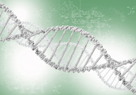DNA helix against the colored background, scientific conceptual background Stock Photo - 18205925