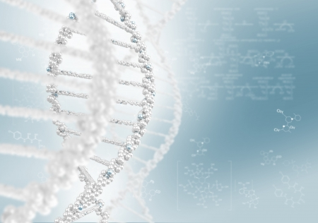 dna double helix: DNA helix against the colored background, scientific conceptual background