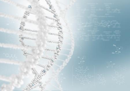 Hélice de ADN contra el fondo de color, fondo conceptual científico
