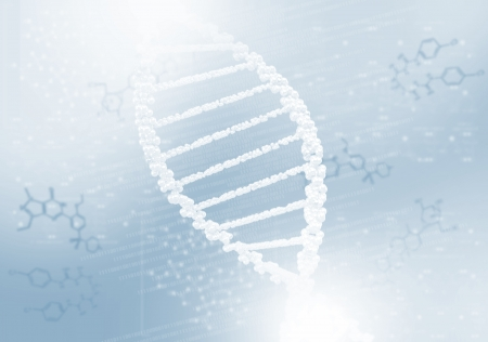 DNA helix against the colored background, scientific conceptual background Stock Photo - 18936585