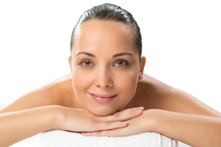 close-up portrait of a beautiful spa woman, concept of female beauty Stock Photo - 19056304