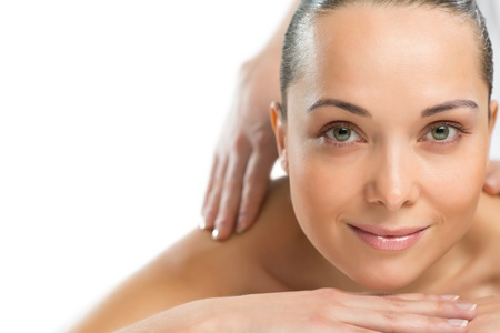 close-up portrait of a beautiful spa woman, concept of female beauty Stock Photo - 19096242