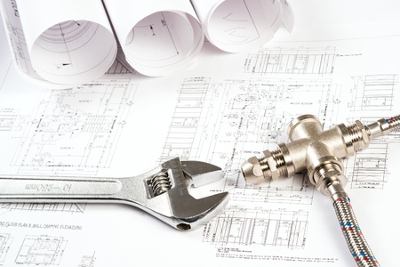 schemes: plumbing and drawings are on the desktop, workspace engineer