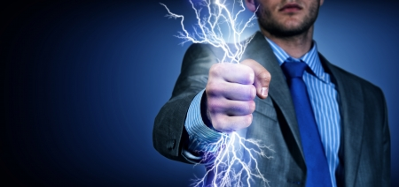 clasped hand: close-up of clasped hand, hand of lightning flashes and lights
