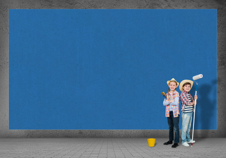 image of a children finished painting the wall Stock Photo - 30521151