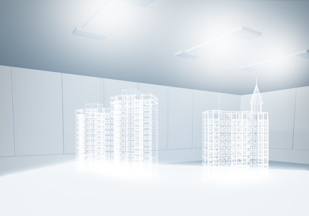 3 d: Background image with 3 d construction digital model Stock Photo