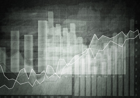 bar graph: Background conceptual image with market graphs and diagrams
