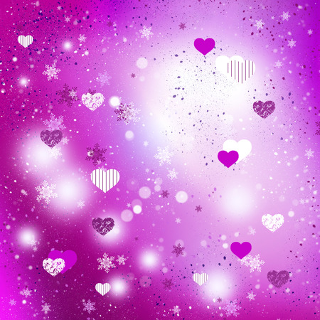 conceptual image: Conceptual image with hearts on color background Stock Photo