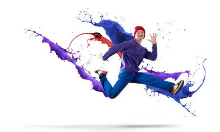 Bailarín Joven De Hip Hop Salto Alto Fotos, Retratos, Imágenes Y ...
