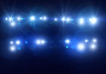 Hintergrundbild mit defokussiert verschwommenes Bühnenlicht Lizenzfreie Bilder
