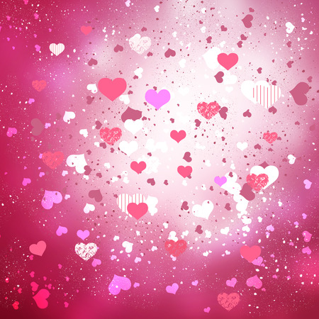 conceptual: Conceptual image with hearts on color background Stock Photo