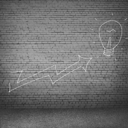 increasing: Background image with drawn on wall increasing graph