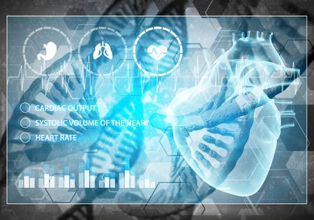 Media geneeskunde achtergrond afbeelding als DNA-onderzoek concept, 3D-rendering