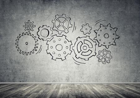 gear mechanism: Gear mechanism as teamwork concept