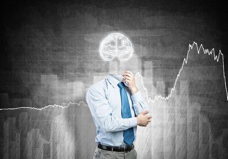 careerist: Brain headed businessman