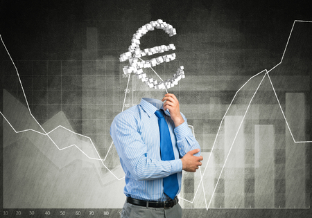 manpower: He is always thinking about money Stock Photo