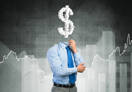 financier: He is always thinking about money Stock Photo
