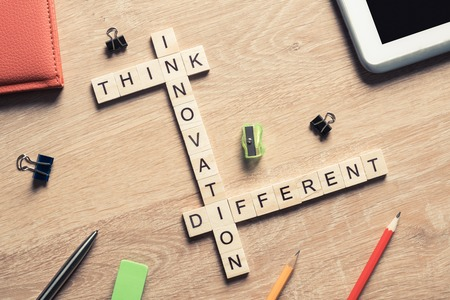 Creativity and brainstorming concepts as effective measure for success achieving Stock Photo