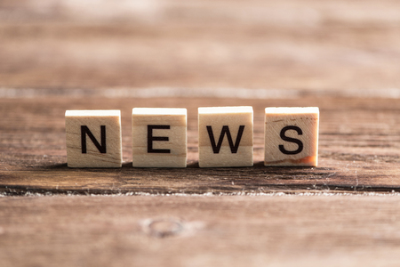 Concept of social media collected of wooden elements with the letters