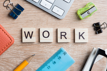 Keywords for making business on wooden office table