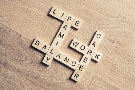 Concept of harmony and balance between work and family