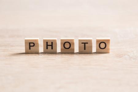 Word Foto von Holzelementen mit den Buchstaben gesammelt Standard-Bild - 88446452