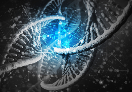 Background image with DNA molecule research concept Stok Fotoğraf - 101001233