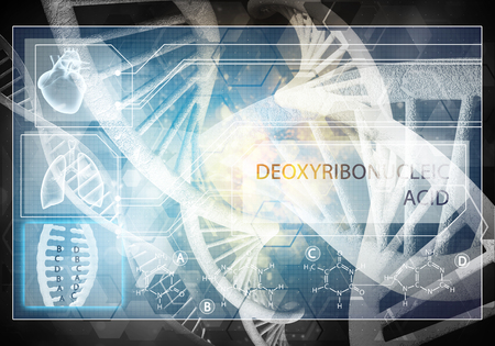 Media medicine background image as DNA research concept. 3D rendering. Stock Photo - 101842690