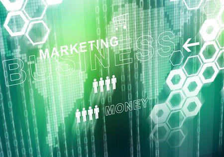 Digital background image presenting modern business concepts Foto de archivo - 131364744
