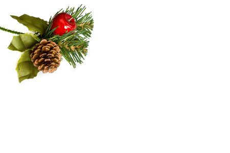 Isolated christmas decoration with copy space photo